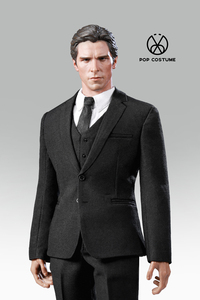 Image 2 - In Stock 1/6 Scale Male Western Suit with Leather Shoes Poptoys X28/X27 Clothes for 12 Inches DIY Narrow Shoulder Body Figure