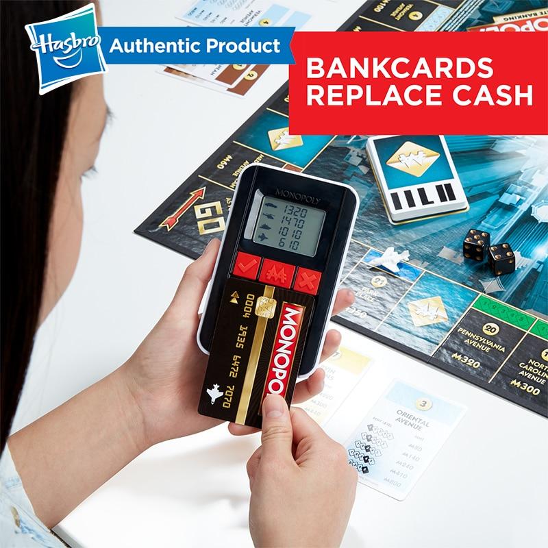 Hasbro, el juego de monopolio electrónico, juegos para adultos, familia, fanáticos populares, actualización de la banca electrónica - 4