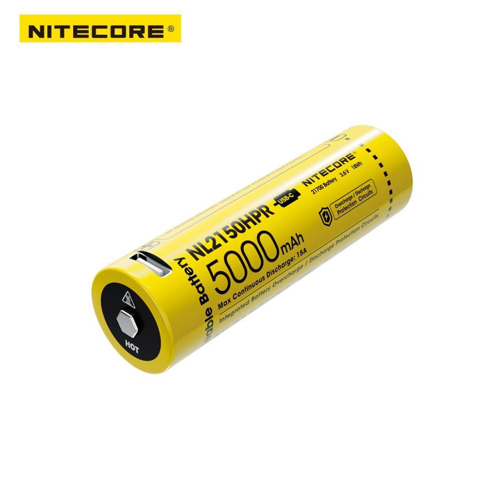 NITECORE NL2150HPR High Drain USB-C Rechargeable 21700 Li-ion Battery
