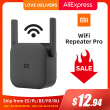 Глобальная версия Xiaomi Mijia Wi-Fi ретранслятор Pro усилитель маршрутизатор 300 м 2,4 г ретранслятор сигнала сетевой беспроводной маршрутизатор 2 ант...