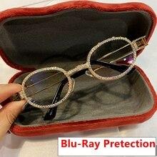 Blu-Ray Pretection Ретро Круглые Солнцезащитные очки женские винтажные стимпанк Солнцезащитные очки мужские прозрачные линзы Стразы солнцезащитные очки Oculos