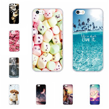 For iPhone 5S Case Soft Silicone TPU Cover 5 SE Animal Patterned Coque 5s se Phone Shell