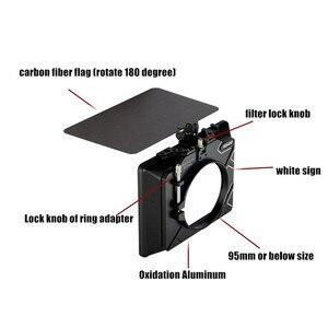 Image 5 - HONTOO 4*4 / 4*5.65 fibre de carbone mat boîte (pince sur) léger w/ 95mm, 86mm, 74mm 72mm 67mm lentille adaptateur anneau forBMPCC 4K A7