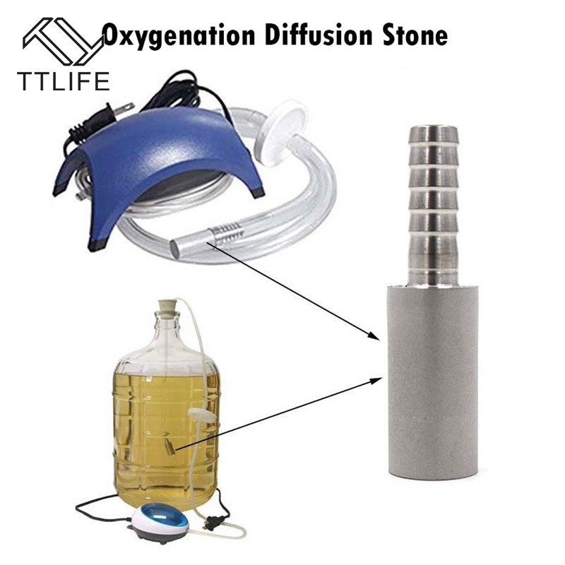 0.5 And 2 Micron Self-brewed Oxygen Diffusion Stone Steel Beer Carbonation Aeration For Beer Fermentation Wine Bar Accessories