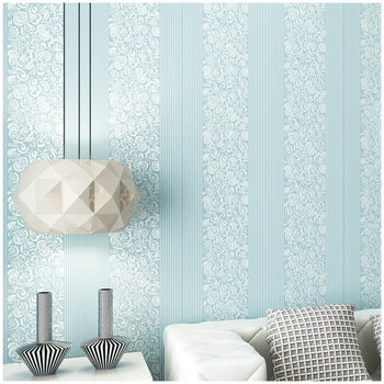 Self-adhesive European 3D three-dimensional vertical stripes thick non-woven wallpaper warm bedroom living room TV back wall beibehang fine pressure continental garden 3d three dimensional non woven wallpaper warm bedroom living room full shop