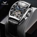 ONOLA брендовые автоматические механические мужские часы 2019 модные деловые наручные часы Уникальный кожаный ремень высококачественные пода...