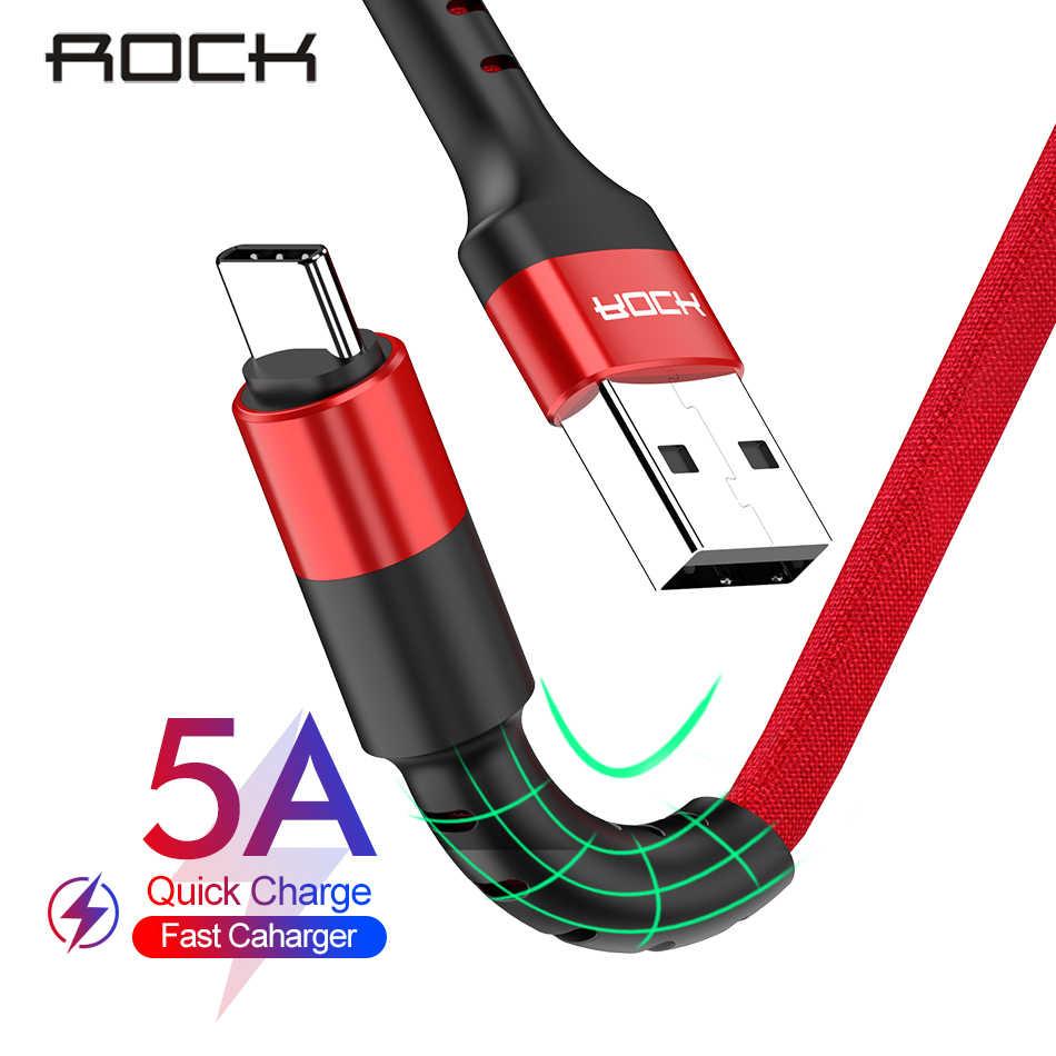 روك 5A USB نوع C كابل ل شاومي Redmi نوت 7 QC 3.0 سريع تهمة نوع-C سلك الهاتف المحمول USB C كابل ل سامسونج S10 تاريخ