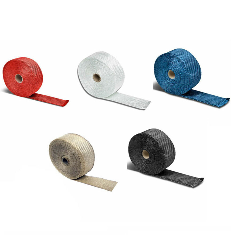 Car Shield Exhausts Pipe Bandage Thermal Wrap Insulation Cotton Collectors Tape Exhaust Manifolds 5m Car Insulation Tape