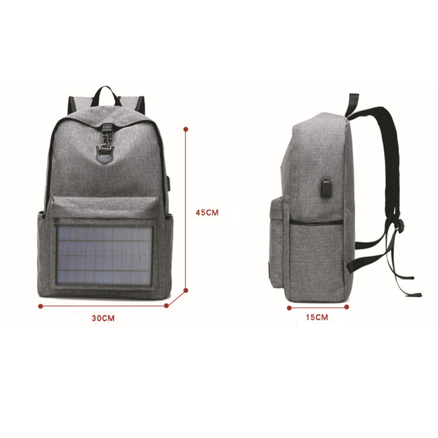 Notebook Backpack Solar Backpack with Usb Charging Port Water Resistant Backpack for Hiking Camping Trekking Fishing 3