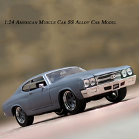 1:24 Advanced Simulation Classic American Muscle Car SS Level Alloy dodge Classic Car Decoration Model