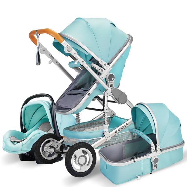 Luxo carrinho de bebê alta landview 3 em 1 carrinho de bebê portátil carrinho de bebê carrinho de bebê carrinho de bebê conforto do bebê para recém-nascido 6