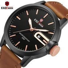 KADEMAN Men's Watch Top Brand Waterproof Sports Fashion Quartz Watches Military Simple Male Wristwatches Relogio Masculino стоимость