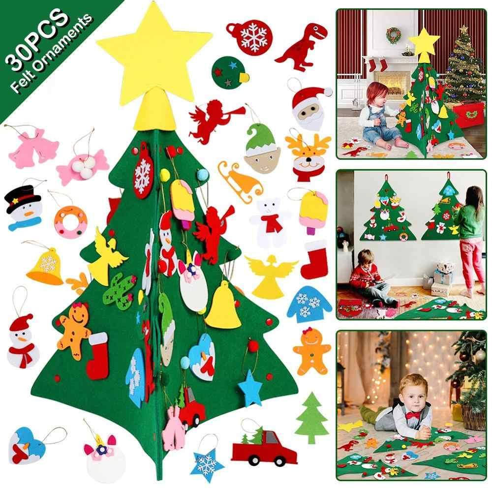 Nuestro cálido árbol de Navidad de fieltro para niños adornos de decoración de árbol de Navidad Año Nuevo 2019 regalo de Navidad para niños fiesta de navidad