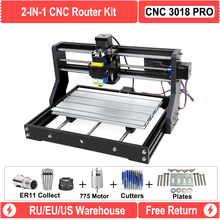 RU/EU Warehouse Upgraded DIY CNC 3018 PRO Laser Router Machine Engraver With GRBL Software 500MW 2500MW 5.5W 15W Module