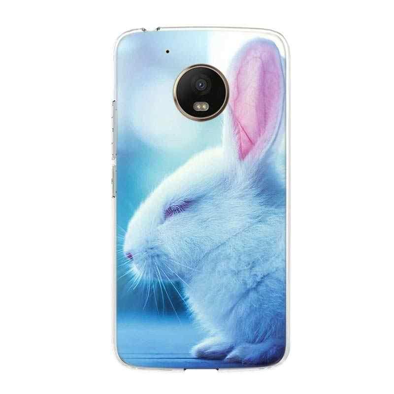 حافظة هاتف بيضاء لهاتف موتورولا G8 G6 G5S G5 G7 لهاتف موتو G5 G5S G7 Play G5 E6 G7 Plus G7 باور حافظة ظهر لينة من البولي يوريثان