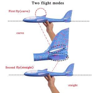 Image 5 - 48*48 cm mano tirar DIY avión volador aviones juguetes para niños regalo de fiesta Avión de espuma juguetes voladores juego de juguete de avión