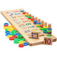 Montessori Materials Calculator Abacus Children Wooden To Count Numbers Matching Early Education Teaching Math Toys 3 6 Years
