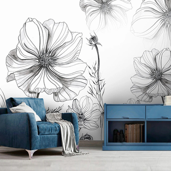 Custom 3D Wall Murals Wallpaper Modern Hand Painted Plain Color Floral Mural Creative Living Room Sofa Bedroom Decor Painting free shipping custom 3d large murals entrance bedroom living room sofa background wallpaper ivy covered wall mural wallpaper