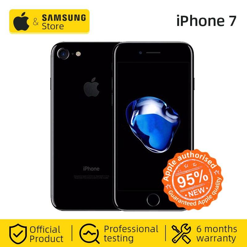 סמארטפון Apple iPhone 7 4G LTE Smartphone 32/128GB ROM IOS טלפון נייד (משמש 95% חדש)