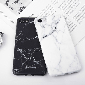 Imd Marble Stone Gel Case for Apple iPhone 7 6s 6 8 Plus  X  XR XS Max Cases Black White Soft Squishy phone Case 1