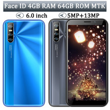 MT6580 9A Quad Core Gesicht ID Handys Entsperrt Smartphones 4G RAM 64G ROM 6.0