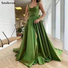 Зеленые Вечерние платья smileven с вырезом сердечком атласные