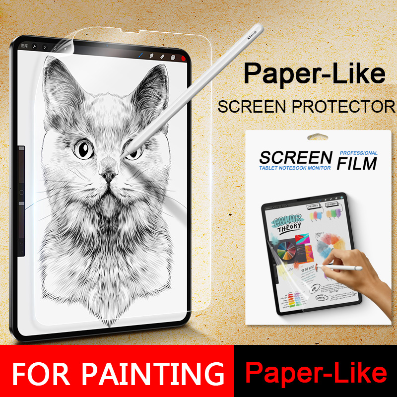 Paper Like Screen Protector Film Matte PET Anti Glare Painting For Apple IPad Mini5 9.7 10.2 10.5 Pro11 12.9 Inch 2017 2018 2019