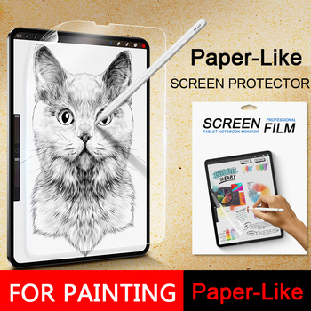 Paper-Like Screen Protector Film Matte PET Anti Glare Painting For Apple iPad mini5 9.7 10.2 10.5 Pro11 12.9 inch 2017 2018 2019 3pcs pack cheap good front matte protetive film for apple ipad 2 3 4 screen protector anti glare carton pack