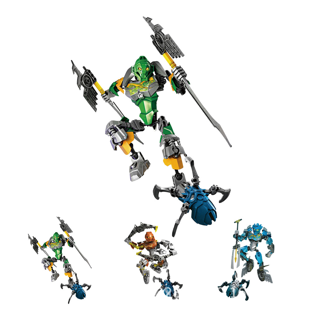 BionicleMask Of Light Children's Master Of Jungle Bionicle Building Block Compatible With Lepining Bionicle Toys