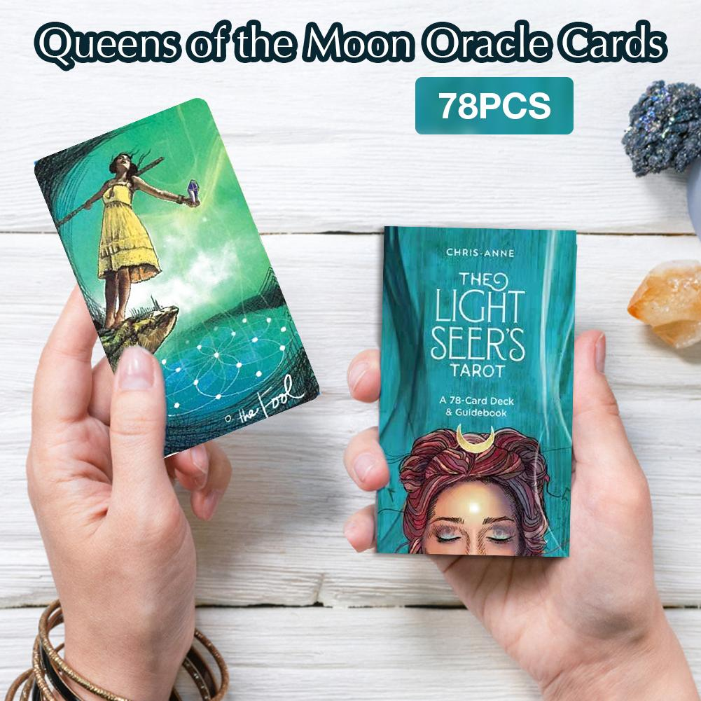 78 Tarot Cards Light Seer's Oracle Cards English Instructions For Family Deck Board Games Guidance Divination Fate Playing Card