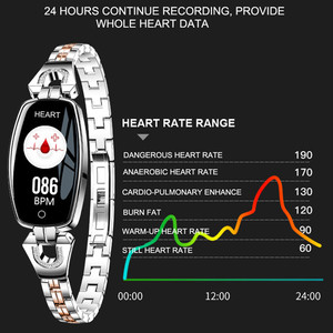 Image 3 - Lism H8 ساعة ذكية النساء 2019 مقاوم للماء رصد معدل ضربات القلب بلوتوث ل أندرويد سوار لياقة بدنية Smartwatch