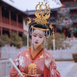 Qian Wei Hua Feng Lyz Traditionele Unieke Kunstwerk Haaraccessoires Ming Tang Stijl All-Match Bruid Bruiloft Phoenix Haar Tiara