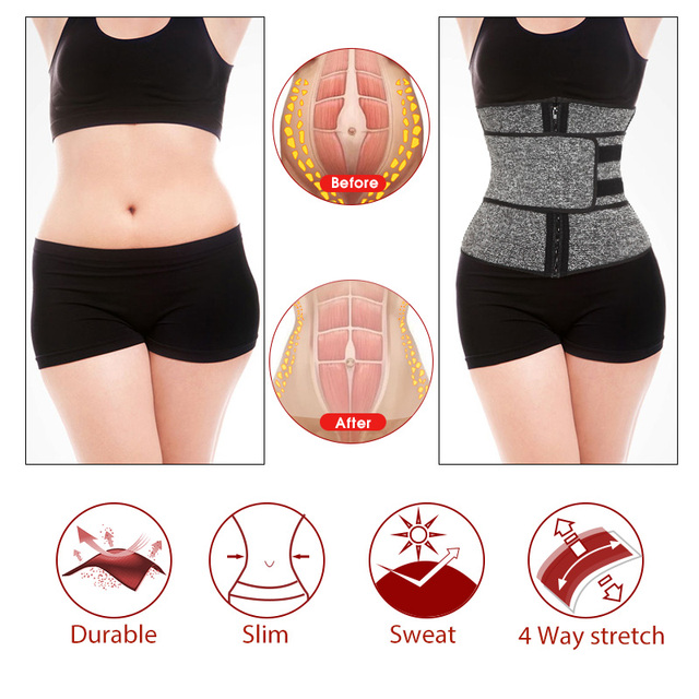 Neoprene Sauna Waist Trainer Corset Sweat Belt for Women Weight Loss Compression Trimmer Workout Fitness 4