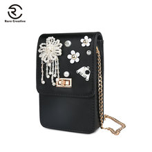 RARE CREATIVE PU Leather Womens Bag Fashion Coin Purse Shoulder Universal Phone Children For Little Things PM6001