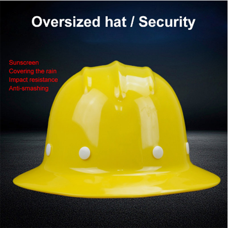 Safety Helmet Sunshade Rainproof Wide-brimmed Hard Hat Labor Insurance Construction Work Protection Helmet Logo Print Service