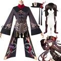 Костюм для косплея Ху Тао геншин ударт Ху Тао костюм для косплея Одежда для Хэллоуина Карнавальная женская униформа для девочек