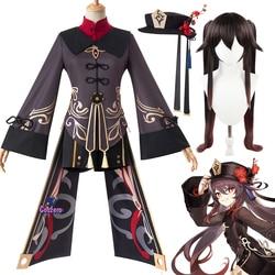 Hu Tao Cosplay Genshin Impact Hu Tao Cosplay Costume Game Outfits Dress Halloween Carnival Women Girl Uniforms