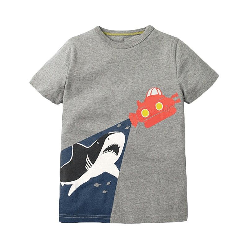 Little maven children 2021 summer new baby boys clothes animal print brand short sleeve t shirt boy tee tops 3