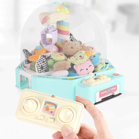 Kids Mini Doll Clip Machine Light Music Rechargeable Electronic Candy Grabber Catcher Coin Operated Claw Arcade Crane Catch Toys