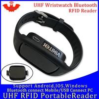 Leitor de frequência ultraelevada rfid bolso portátil mini leitor de relógio bluetooth conectar telefone móvel uso fácil pequeno usb android chip escritor copiadora