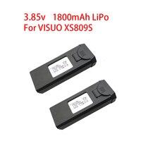 Orijinal 3.85V 1800mAh Lipo pil için VISUO XS809s XS816 rc dört pervaneli helikopter drone pili yedek parça aksesuarları 3.7v pil