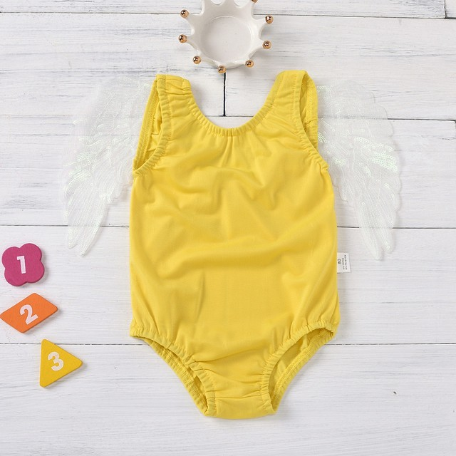 Baby Kids Girls Color Wing One Piece Swimwear Summer Swimsuit 2