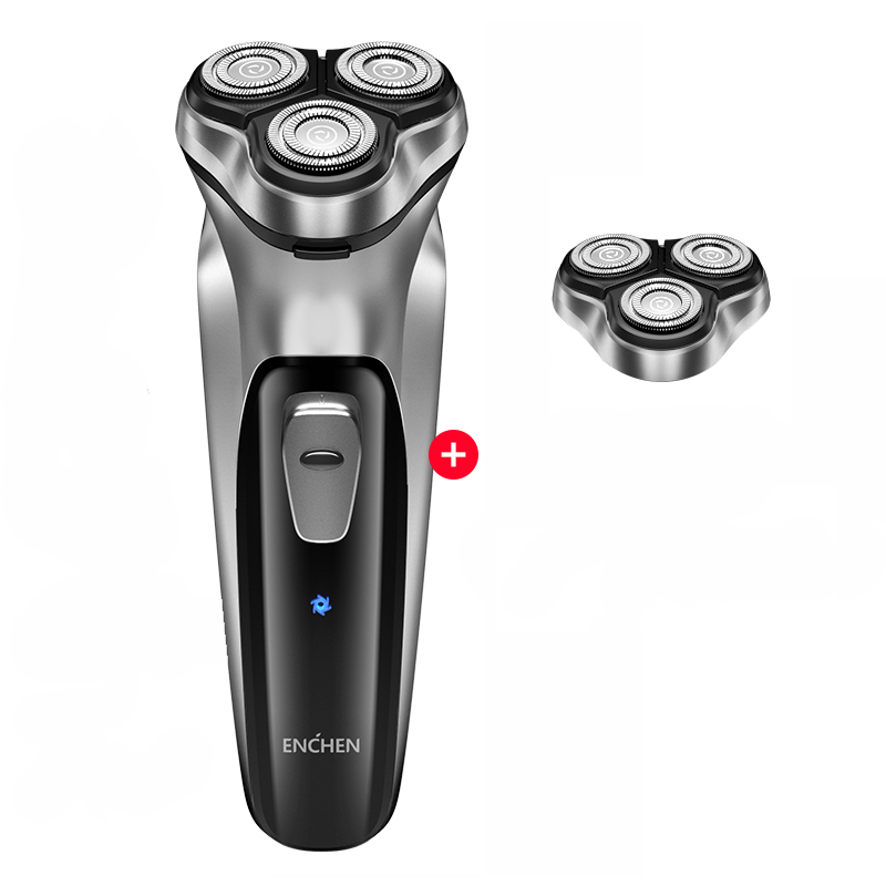 2020 Xiaomi Enchen Black Stone 3D Electric Shaver Smart Control Blocking Protection Razor Washable Type-C Rechargeable Men