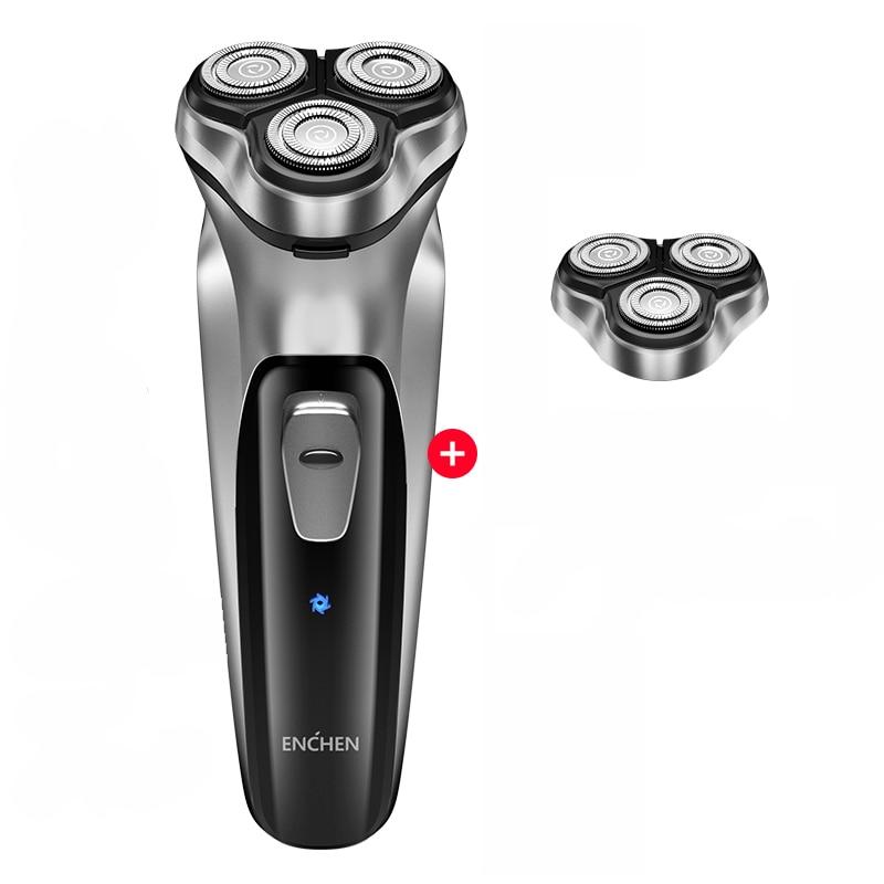 2020 Xiaomi Enchen Black Stone 3D Electric Shaver Smart Control Blocking Protection Razor Washable Type-C Rechargeable Men