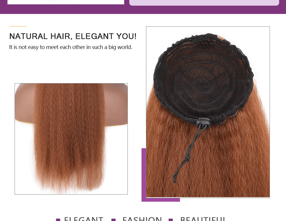 Ultimate DealChorliss Hair-Extensions Afro Synthetic Ponytail Heat-Resistant Straight Long Black-Women¸