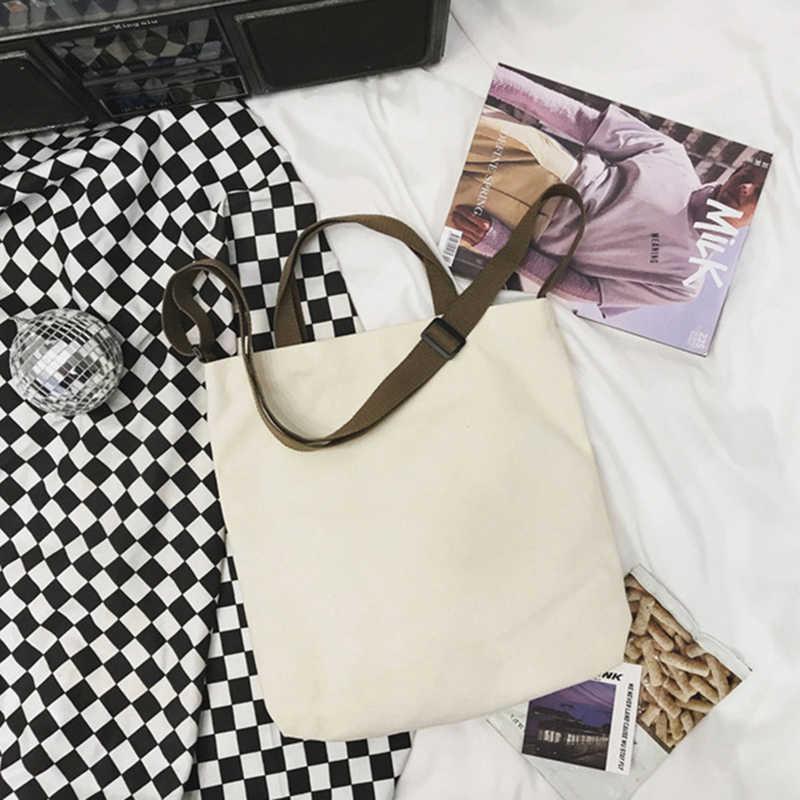 Nowe mody płócienne torebki drukowany napis o dużej pojemności Crossbody torba kobiety Student Casual torby na ramię