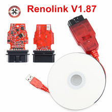 Renolink V1.87 V1.52 ECU for R-enault ECU Programmer ECU Resetting Key Coding Matching Dashboard Coding ECU Resetting Function