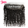 13x4 Frontal Deep Wave Closure Pre Plucked Natural Color Remy Human Hair Extension 13x4 Lace Frontal Closure