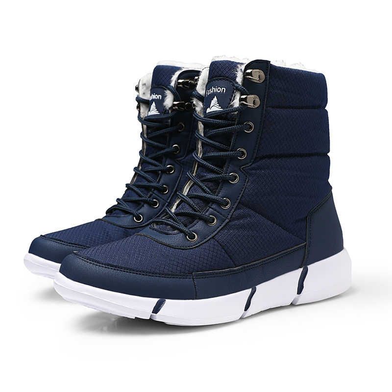 HOT Mens Round Toe Lace Up Mid calf Boots Work Safety Soldiers Ridding Boots Man Winter Snow Boots 2019 Red in Snow Boots from Shoes