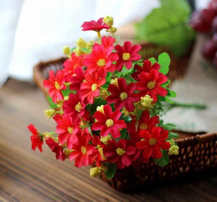 1 szt. Żółta chryzantema jedwabna piwonia sztuczny bukiet kwiatów duża główka i pączek tanie fałszywe do dekoracji ślubnej domu kryty
